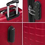 TecTake Set de 3 valises de voyage de ABS | avec serrure à combinaison intégrée | poignée télescopique | roulettes 360° | Bordeaux de la marque TecTake image 5 produit