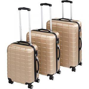TecTake Set de 3 valises de voyage de ABS | avec serrure à combinaison intégrée | poignée télescopique | roulettes 360° | Champagne de la marque TecTake image 0 produit