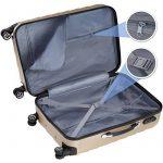 TecTake Set de 3 valises de voyage de ABS | avec serrure à combinaison intégrée | poignée télescopique | roulettes 360° | Champagne de la marque TecTake image 2 produit