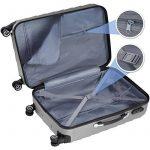 TecTake Set de 3 valises de voyage de ABS | avec serrure à combinaison intégrée | poignée télescopique | roulettes 360° - diverses couleurs au choix (Argent| no. 402672) de la marque TecTake image 2 produit