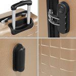 TecTake Set de 3 valises de voyage de ABS | avec serrure à combinaison intégrée | poignée télescopique | roulettes 360° - diverses couleurs au choix (Champagne| no. 402674) de la marque TecTake image 5 produit