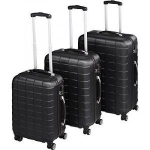 TecTake Set de 3 valises de voyage de ABS | avec serrure à combinaison intégrée | poignée télescopique | roulettes 360° | Noir de la marque TecTake image 0 produit