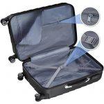 TecTake Set de 3 valises de voyage de ABS | avec serrure à combinaison intégrée | poignée télescopique | roulettes 360° | Noir de la marque TecTake image 2 produit