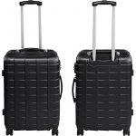 TecTake Set de 3 valises de voyage de ABS | avec serrure à combinaison intégrée | poignée télescopique | roulettes 360° | Noir de la marque TecTake image 3 produit