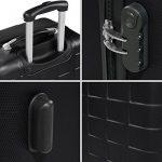 TecTake Set de 3 valises de voyage de ABS | avec serrure à combinaison intégrée | poignée télescopique | roulettes 360° | Noir de la marque TecTake image 5 produit