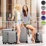 TecTake Set de 4 valises de voyage de ABS - avec serrure à combinaison intégrée - poignée télescopique - roulettes 360° - Bleu de la marque TecTake image 1 produit
