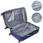 TecTake Set de 4 valises de voyage de ABS - avec serrure à combinaison intégrée - poignée télescopique - roulettes 360° - Bleu de la marque TecTake image 3 produit