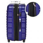 TecTake Set de 4 valises de voyage de ABS - avec serrure à combinaison intégrée - poignée télescopique - roulettes 360° - Bleu de la marque TecTake image 4 produit