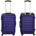 TecTake Set de 4 valises de voyage de ABS - avec serrure à combinaison intégrée - poignée télescopique - roulettes 360° - Bleu de la marque TecTake image 5 produit