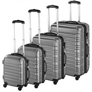 TecTake Set de 4 valises de voyage de ABS avec serrure à combinaison intégrée   poignée télescopique   roulettes 360° - diverses couleurs au choix - de la marque TecTake image 0 produit