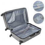 TecTake Set de 4 valises de voyage de ABS avec serrure à combinaison intégrée   poignée télescopique   roulettes 360° - diverses couleurs au choix - de la marque TecTake image 3 produit