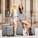 TecTake Set de 4 valises de voyage de ABS avec serrure à combinaison intégrée   poignée télescopique   roulettes 360° - diverses couleurs au choix - de la marque TecTake image 1 produit