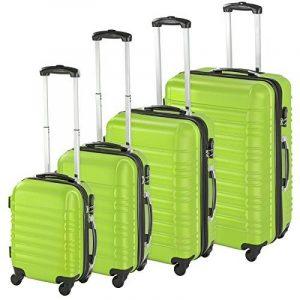 TecTake Set de 4 valises de voyage de ABS - avec serrure à combinaison intégrée - poignée télescopique - roulettes 360° - vert de la marque TecTake image 0 produit