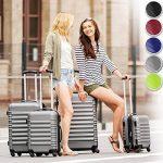 TecTake Set de 4 valises de voyage de ABS - avec serrure à combinaison intégrée - poignée télescopique - roulettes 360° - vert de la marque TecTake image 1 produit