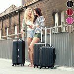 TecTake Set Lot de 3 valises Trolley rose valise rigide - avec serrure à combinaison intégrée - poignée télescopique - roulettes 360° de la marque TecTake image 1 produit