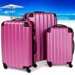 TecTake Set Lot de 3 valises Trolley rose valise rigide - avec serrure à combinaison intégrée - poignée télescopique - roulettes 360° de la marque TecTake image 2 produit