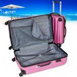 TecTake Set Lot de 3 valises Trolley rose valise rigide - avec serrure à combinaison intégrée - poignée télescopique - roulettes 360° de la marque TecTake image 4 produit