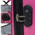 TecTake Set Lot de 3 valises Trolley rose valise rigide - avec serrure à combinaison intégrée - poignée télescopique - roulettes 360° de la marque TecTake image 6 produit
