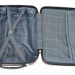 Todeco - Set de 3 valises Trolley rouges - Valises rigides à roulettes avec sécurité - Couleur Rouge de la marque Todeco image 5 produit