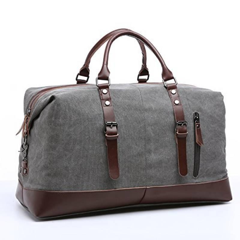 40ad02c99a Notre sélection de sac homme voyage : Note Amazon. Toile Voyage Sac PU cuir  vintage Voyage sac Week-end Sport Duffel Sacs ...