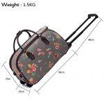 Trendstar Mesdames Voyage HOLDALL Sacs bagages à main des femmes de papillon Weekend à roulettes Trolley Sac à main de la marque Trendstar image 2 produit