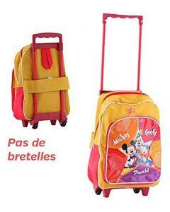 Trolley à roulettes Mickey d'école primaire - Pas de bretelles - 36x28x10cm - Sac pour enfant original de type valise de la marque Cars image 0 produit