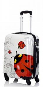 Trolley cabine 55 cm & 50 cm valise rigide abs polycarbonate imperméable avec film de protection - bagages à main pour les vols - Fantasy Papillon de la marque Ormi By G.Kaos image 0 produit