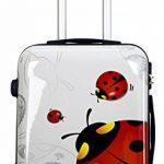 Trolley cabine 55 cm & 50 cm valise rigide abs polycarbonate imperméable avec film de protection - bagages à main pour les vols - Fantasy Papillon de la marque Ormi By G.Kaos image 1 produit