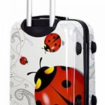 Trolley cabine 55 cm & 50 cm valise rigide abs polycarbonate imperméable avec film de protection - bagages à main pour les vols - Fantasy Papillon de la marque Ormi By G.Kaos image 2 produit