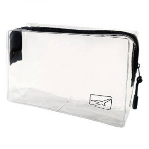 Trousse de toilette transparente pour avion - bagages en cabine et bagage à main - format bagages à main - voyages en avion - volume 1 litre de la marque Travel Boutique image 0 produit