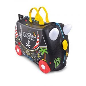 Trunki Pedro the Pirate Ship Ride On and Carry Suitcase (Black) Bagage enfant, 46 cm, 18 liters, Noir de la marque Trunki image 0 produit