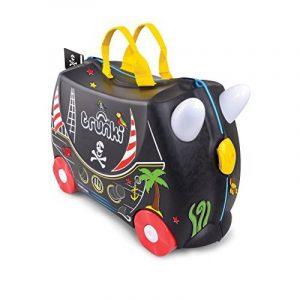 Trunki Pedro the Pirate Ship Ride On and Carry Suitcase (Black) Bagage enfant, 46 cm, 18 liters, Noir de la marque Trunki image 0 produit
