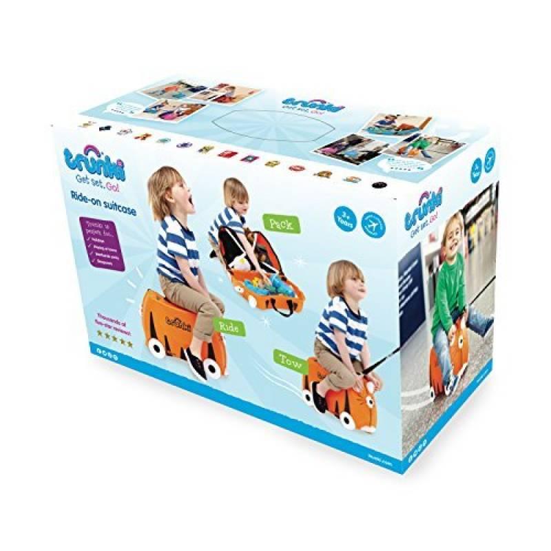 Trunki Ride-On Suitcase Bagage Enfant, 46 cm, 18 L, Orange et Noir de la  marque Trunki 4e1a323363b