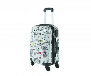Valise bagage cabine 50cm et 55cm - Trolley ABS ultra Léger - 4 roues pour voler avec EasyJet - Ryanair art happiness de la marque JustGlam image 0 produit
