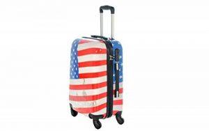 Valise bagage cabine 50cm et 55cm - Trolley ABS ultra Léger - 4 roues pour voler avec EasyJet - Ryanair bandiera americana de la marque JustGlam image 0 produit