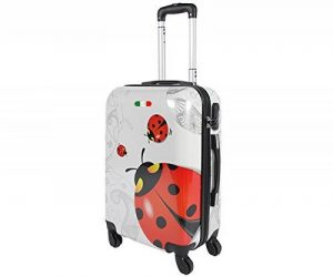 Valise bagage cabine JUSTGLAM 55cm - Trolley ABS ultra Léger - 4 roues pour voler avec EasyJet - Ryanair coccinella de la marque JustGlam image 0 produit