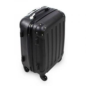 Valise cabine 55 cm - Valisette rigide trolley 4 roues et poignée télescopique - Couleur Noir de la marque Todeco image 0 produit