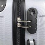 Valise cabine 55 cm - Valisette rigide trolley 4 roues et poignée télescopique - Couleur Noir de la marque Todeco image 3 produit