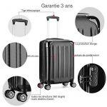 Valise cabine 55cm bagage a main ABS 4 roues rigide ultra leger 6 couleurs 40L de la marque VALIGO image 2 produit