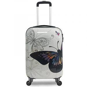 Valise cabine 55cm bagage a main femme enfant avions low cost 4 roues Papillon l¨¦ger 40 L de la marque VALIGO image 0 produit