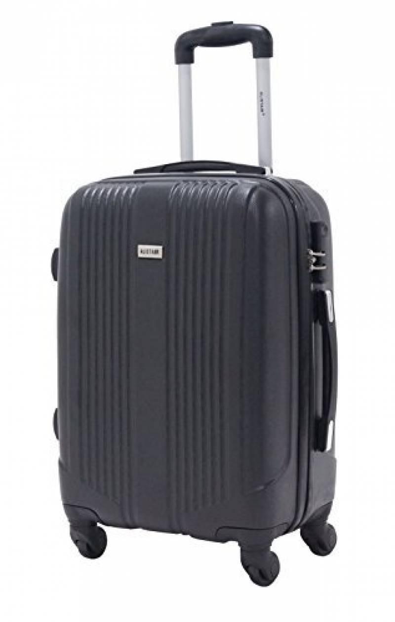 SUITLINE - Bagage à main, Valise cabine, Trolley, 4 roues, ABS très léger, TSA, 55 cm, 34 litres, Azul cian