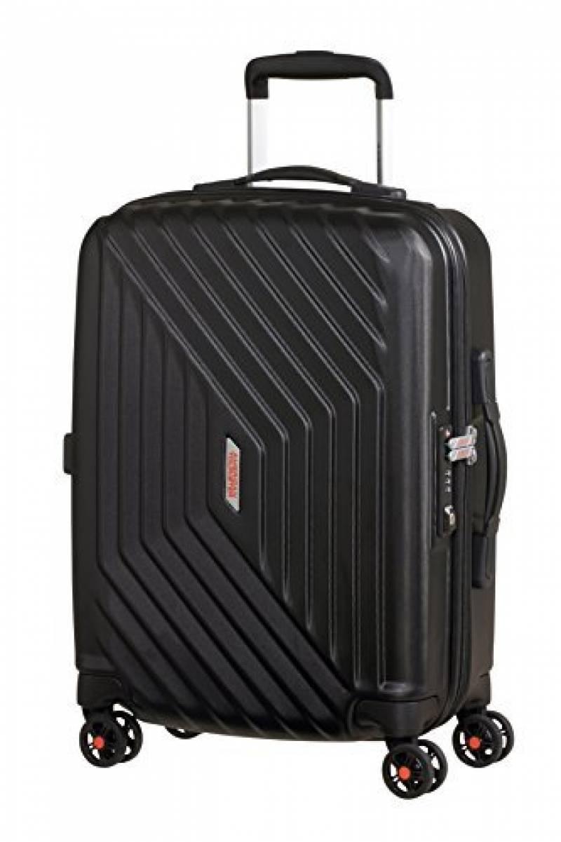 Black Noir Valise Trolley ext. American Tourister Sunside détraqué L 77 cm