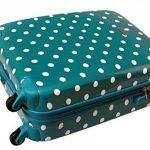 Valise cabine bordgepäck valise rigide pour des voyages de vacances voyage trolley case documents avec cadenas à combinaison tSA 30 l turquoise 813/818 de la marque Karry image 4 produit
