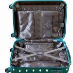 Valise cabine bordgepäck valise rigide pour des voyages de vacances voyage trolley case documents avec cadenas à combinaison tSA 30 l turquoise 813/818 de la marque Karry image 5 produit