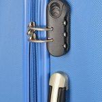 Valise Cabine Rigide Bleu A.b.s de la marque TRAVEL image 1 produit