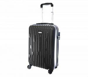 Valise cabine toute compagnie low-cost ou standard ABS Ultra léger dimensions 55 x 35 x 20 cm Noir de la marque Worldline image 0 produit