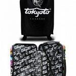 Valise Cabine Trolley Easyjet Ryanair valise approuvé pour vols low cost 55x35x20cm Sac de Voyage 55 cm - Modèle MONSTERS & ZOMBIES (VALISE prête à Charger les portables) de la marque TOKYOTO Luggage image 4 produit