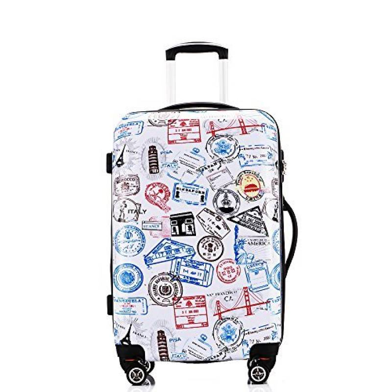 ABS Voyage Bagage Valise 4 Roues Spinner Trolley Bagages cas Coque rigide PC