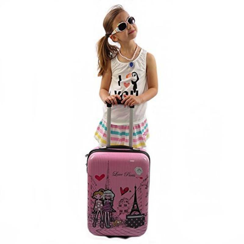 Valise Cabine /à 2 roues pour Enfant Rose-Snowball.