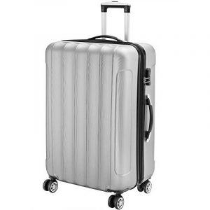 Valise rigide avec cadenas M / L / XL - Bagage Malle voyage vacances Bleu Argent Noir de la marque Deuba image 0 produit